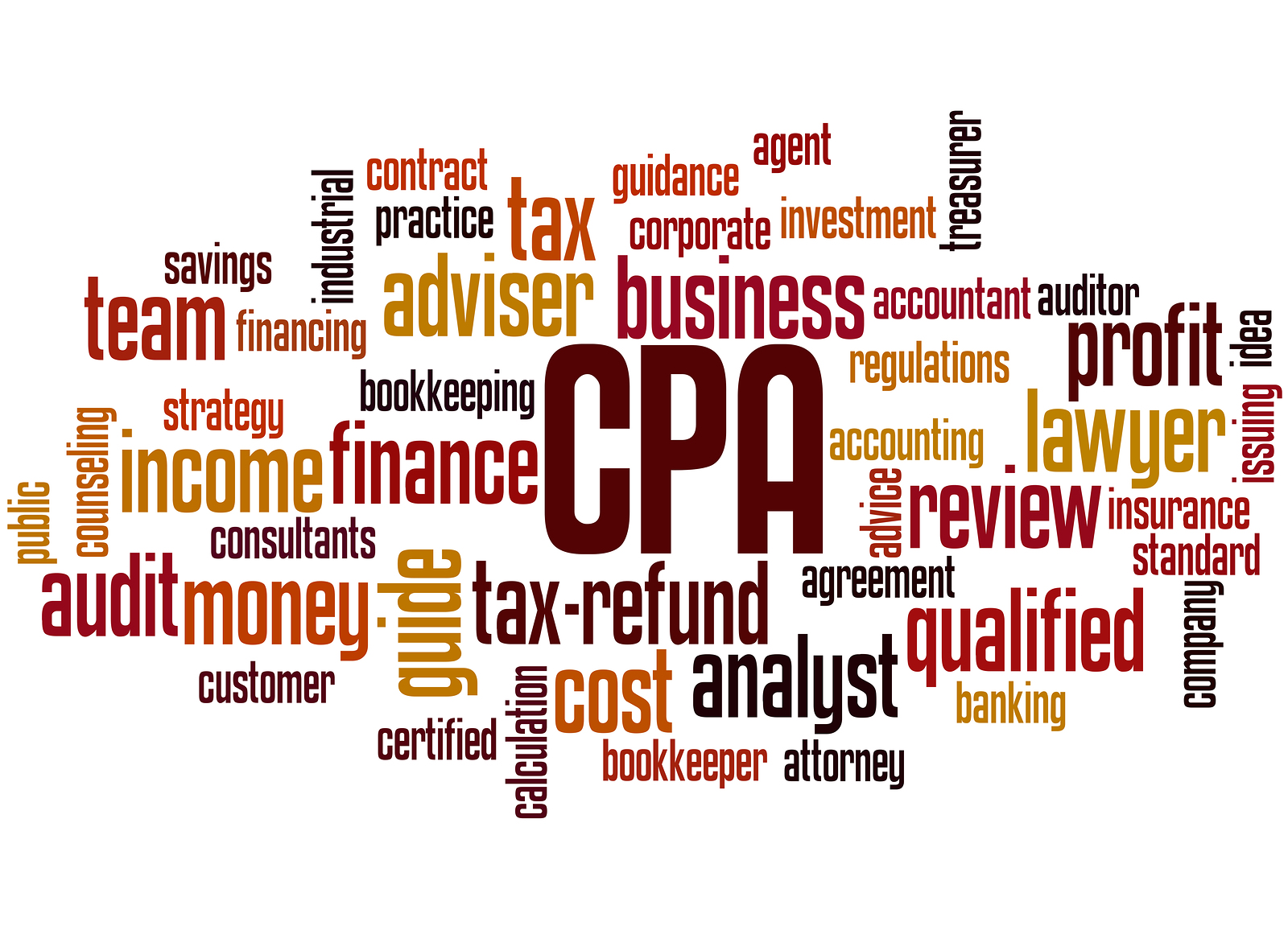 Cpa - Certified Public Accountant, Word Cloud Concept 8